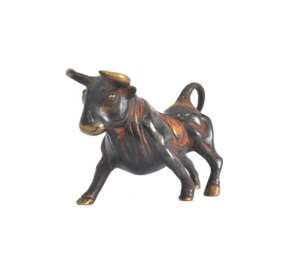 Curves & Carvings Marron Wild Bull - ART00055