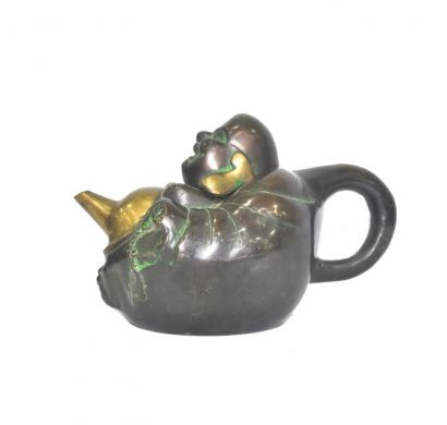 Curves & Carvings Laughing Buddha Kettle - ART00083