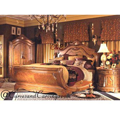 Curves & Carvings Bedroom Set- BED0222