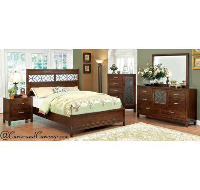 Curves & Carvings Bedroom Set- BED0204