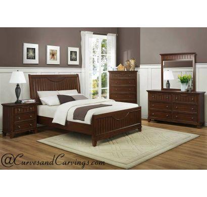 Curves & Carvings Bedroom Set- BED0205