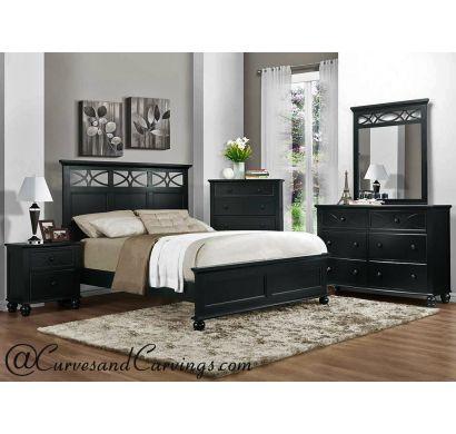 Curves & Carvings Bedroom Set- BED0206