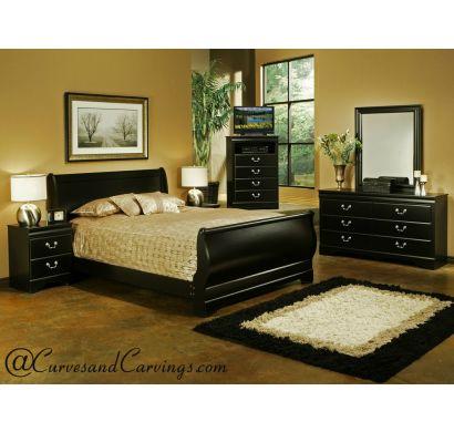 Curves & Carvings Bedroom Set- BED0207