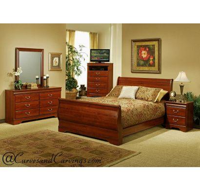 Curves & Carvings Bedroom Set- BED0208