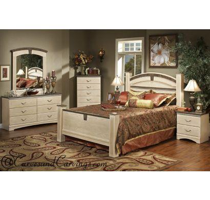 Curves & Carvings Bedroom Set- BED0210