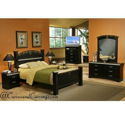 Curves & Carvings Bedroom Set- BED0211