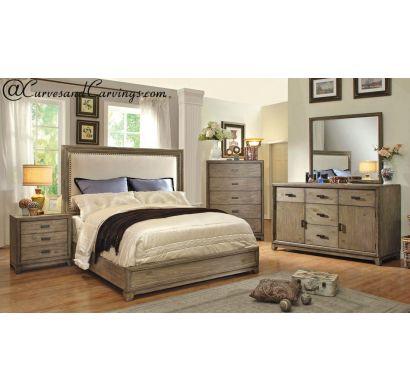 Curves & Carvings Bedroom Set- BED0218