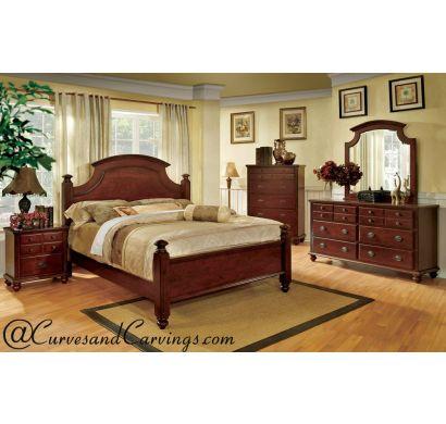 Curves & Carvings Bedroom Set- BED0221