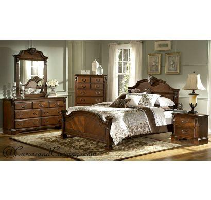 Curves & Carvings Bedroom Set- BED0223