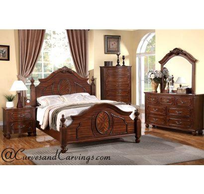 Curves & Carvings Bedroom Set- BED0224