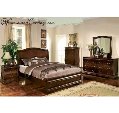 Curves & Carvings Bedroom Set- BED0226