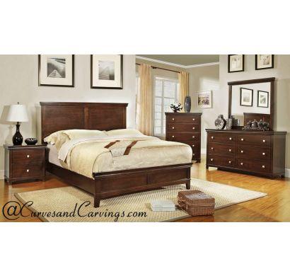 Curves & Carvings Bedroom Set- BED0230