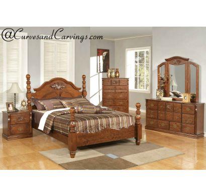 Curves & Carvings Bedroom Set- BED0236