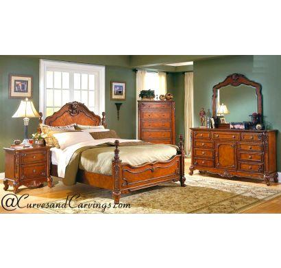 Curves & Carvings Bedroom Set- BED0239