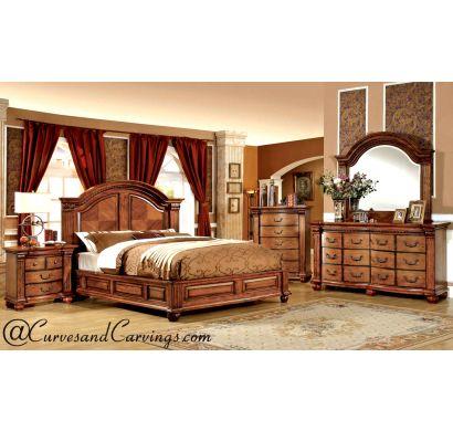 Curves & Carvings Bedroom Set- BED0247