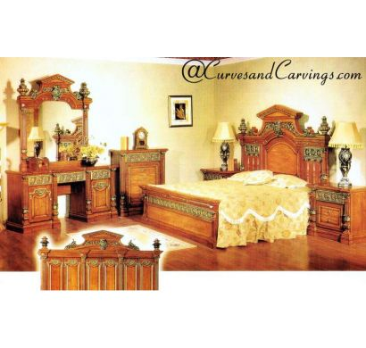 Curves & Carvings Signature Collection Bed - C&C BED0314
