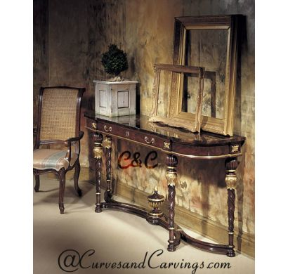 Curves & Carvings Classic Collection Console Table - C&C CON0017