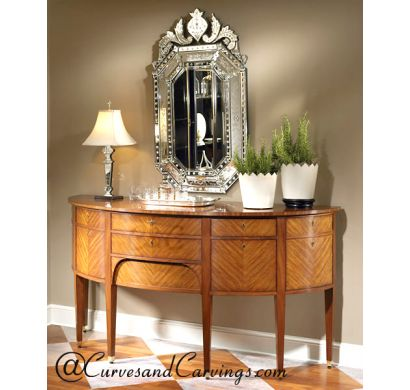 Curves & Carvings Premium Collection Console Table - C&C CON0088
