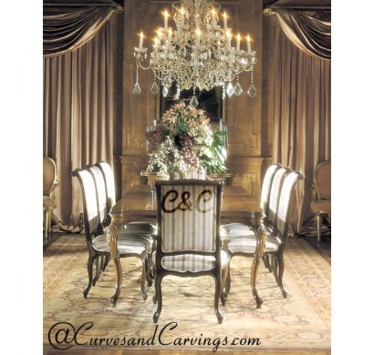 Curves & Carvings Classic Collection Dining Table Set - C&C DTC0004