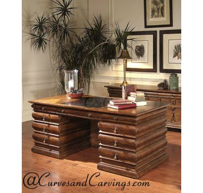 Curves & Carvings Signature Collection Study Table - C&C STUDY0021