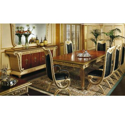 Curves & Carvings Signature Collection Dining Table Set - C&C DTC0705