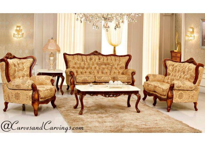 Buy Designer Sofa 0258 Online India Signature Collection Teak Wood Luxury Sofas Luxury Furniture For Living Room Curvesandcarvings Com